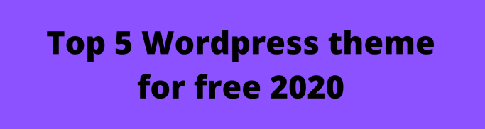 Top 10 WordPress theme for free (2)